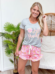 Pajama Short Set by Simply Southern - Just Peachy