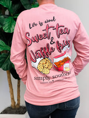 'Sweet Tea & Waffle Fries' Long Sleeve Tee by Simply Southern