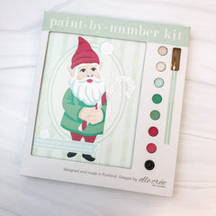 Holiday Gnome Paint-by-Number Kit