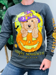'Hocus Pocus' Halloween Puppy Long Sleeve Tee by Simply Southern