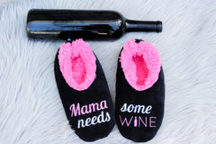 Snoozies! Slippers - Mama Needs Some Wine
