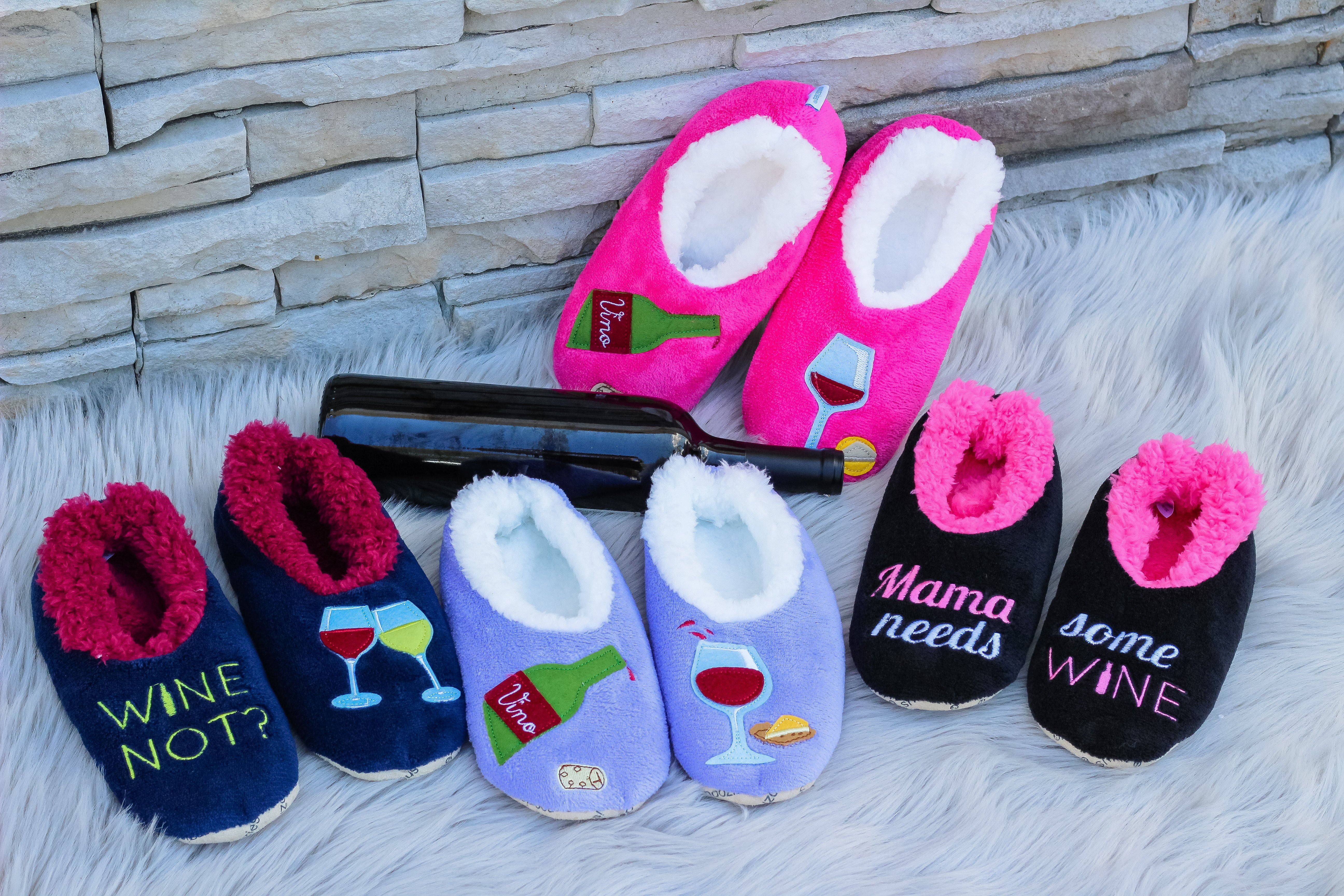 6a6a6bb71b2 Snoozies! Slippers - Mama Needs Some Wine – Prep Obsessed