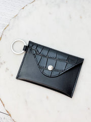 Mini Leather Envelope Wallet by O-Venture - Back in Black