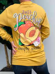 'Just Peachy' Long Sleeve Tee by Simply Southern