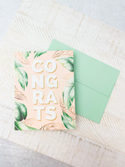 """Congrats"" Boho Summer Greeting Card"