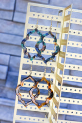 Chaya Quatrefoil Dangle Earrings - 4 colors available