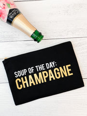 'Soup Of The Day: Champagne' Makeup Bag
