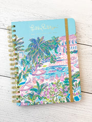 17 Month Jumbo Agenda by Lilly Pulitzer - Island Hopping Toile