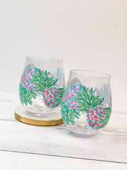 Acrylic Wine Glass Set by Lilly Pulitzer - Swizzle Out
