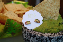 Smiling Taco Signature Enamel Studs by Prep Obsessed
