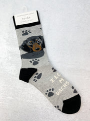 'I Love My Dachshund' Socks
