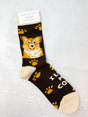 'I Love My Corgi' Socks
