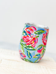 Stainless Steel Stemless Tumbler by Lilly Pulitzer - Totally Blossom