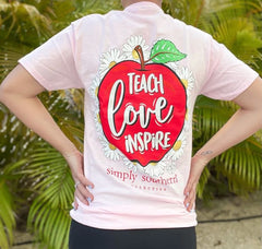'Teach Love Inspire' Apple Short Sleeve by Simply Southern