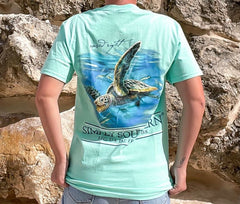 'Raised Right' Sea Turtle Short Sleeve by Simply Southern