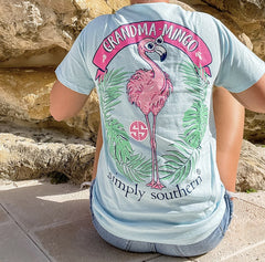 'Grandma-Mingo' Flamingo Short Sleeve by Simply Southern