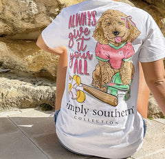 'Always Give It Your All' Softball Pup Short Sleeve by Simply Southern