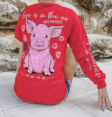 'Love Is In The Air' Pig Long Sleeve Tee by Simply Southern