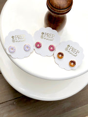 Donut Signature Enamel Stud Earrings