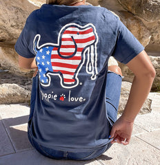 'USA Pup' Short Sleeve Tee by Puppie Love (Ships in 2-3 Weeks)