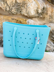 Solid Large Tote by Simply Southern - Sky