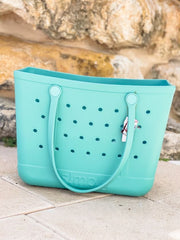 Solid Large Tote by Simply Southern - Seafoam
