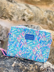 Leaves Printed Cosmetic Bag by Simply Southern