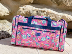 Shell Printed Duffle Bag by Simply Southern