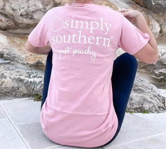 'Just Peachy' Logo Short Sleeve by Simply Southern