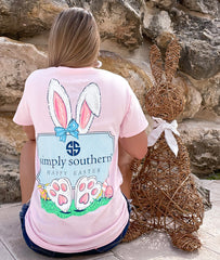 'Happy Easter' Bunnies Short Sleeve by Simply Southern