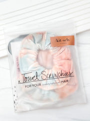 Sunset Tie Dye Microfiber Towel Scrunchies