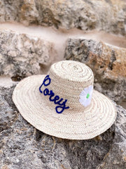 Medina Personalized Straw Hat - Medium