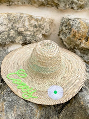 Medina Personalized Straw Hat - Large (Ships in 3-4 Weeks)