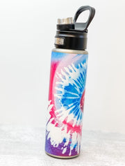 Snow Cone Tie Dye Stainless Steel 24 oz Water Bottle by Tervis (Ships in 2-3 Weeks)