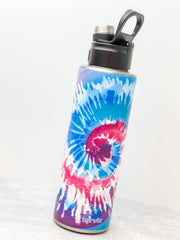 Snow Cone Tie Dye Stainless Steel 40 oz Water Bottle by Tervis (Ships in 2-3 Weeks)