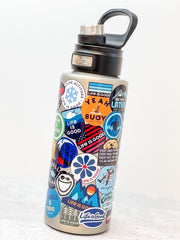 Life Is Good Sticker Collage Stainless Steel 32 oz Water Bottle by Tervis (Ships in 2-3 Weeks)