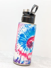 Snow Cone Tie Dye Stainless Steel 32 oz Water Bottle by Tervis (Ships in 2-3 Weeks)