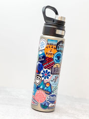 Life Is Good Sticker Collage Stainless Steel 24 oz Water Bottle by Tervis (Ships in 2-3 Weeks)