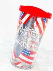 Coton Colors 'Happy To Be American' 16 oz Double Wall Tumbler by Tervis (Ships in 1-2 Weeks)