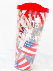 Coton Colors 'Happy To Be American' 24 oz Double Wall Tumbler by Tervis (Ships in 1-2 Weeks)