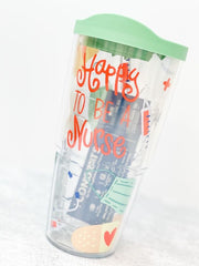 Coton Colors 'Happy To Be A Nurse' 24 oz Double Wall Tumbler by Tervis (Ships in 1-2 Weeks)