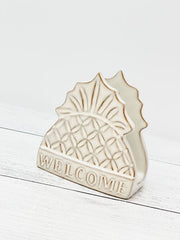 'Welcome' Pineapple Sponge Holder by Mud Pie