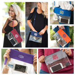 Game Day Monogrammed Clear Stadium Approved Bag at Prep Obsessed