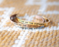 'I Can Go The Distance' Cuff Bracelet by Lillian & Co.