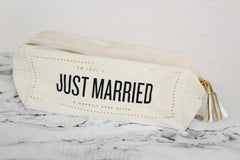 Just Married Cosmetic Bag by Rosanna