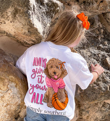 Youth 'Always Give It Your All' Basketball Pup Short Sleeve by Simply Southern