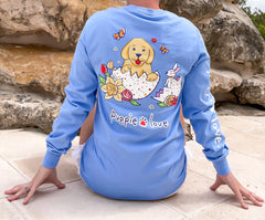 Easter Egg Pup Long Sleeve Tee by Puppie Love