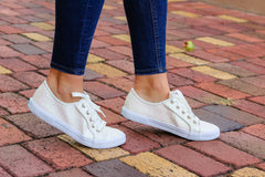 Carter Textile Sneakers in White Sparkle by Jack Rogers
