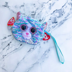 Flippables Whimsy the Cat Sequin Wristlet by TY