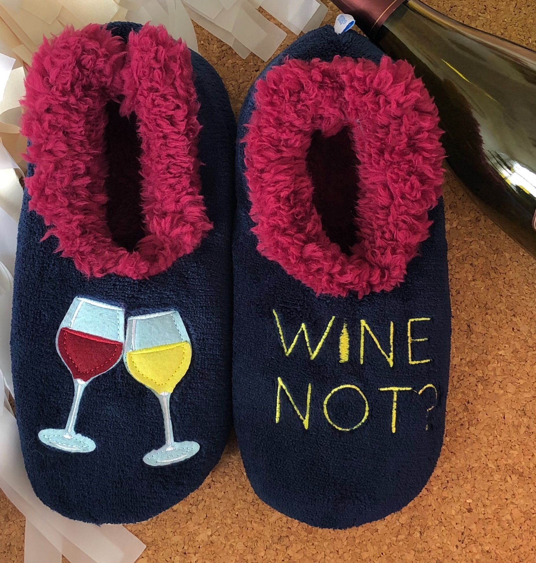 86587616ff7 Snoozies! Slippers - Wine Not  – Prep Obsessed